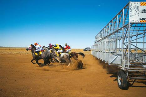 Kick up some dirt at horse races, goat races, camel or yabby races