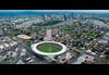 Aerial of Brisbane City overlooking The Gabba