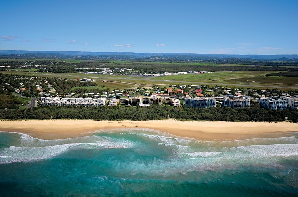 Aerial of Marcoola Beach, Sunshine Coast